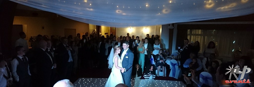 First dance for a wedding at the Little Silver Country Hotel