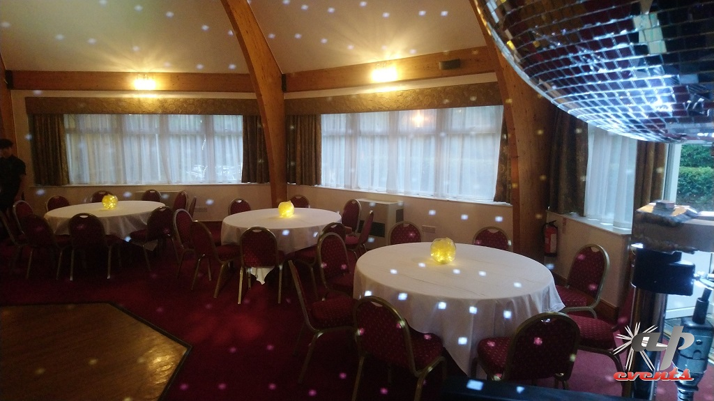 A mirrorball adds the perfect sparkle to any wedding