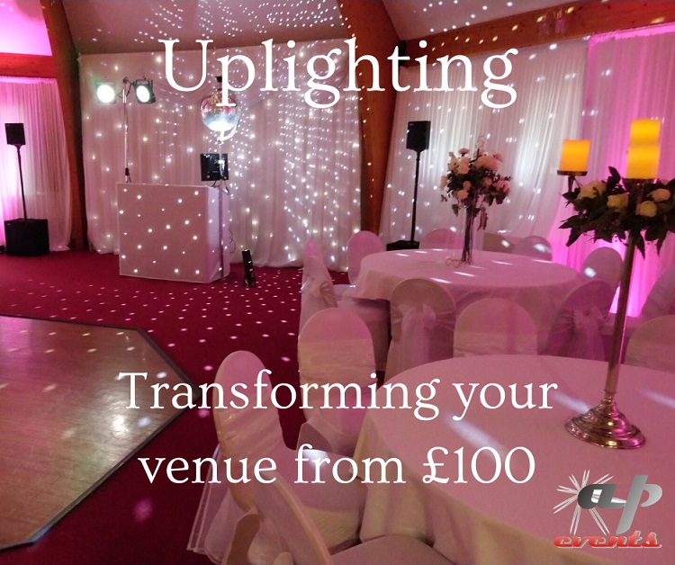 Transforming a venue with uplighting