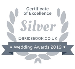 Bridebook Wedding Awards 2019 - Silver Certificate of Excellence