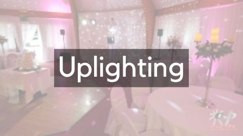 Transform your venue with uplighters